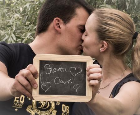 Claudia und Steven, Engagement Shooting am Schloss Monrepos